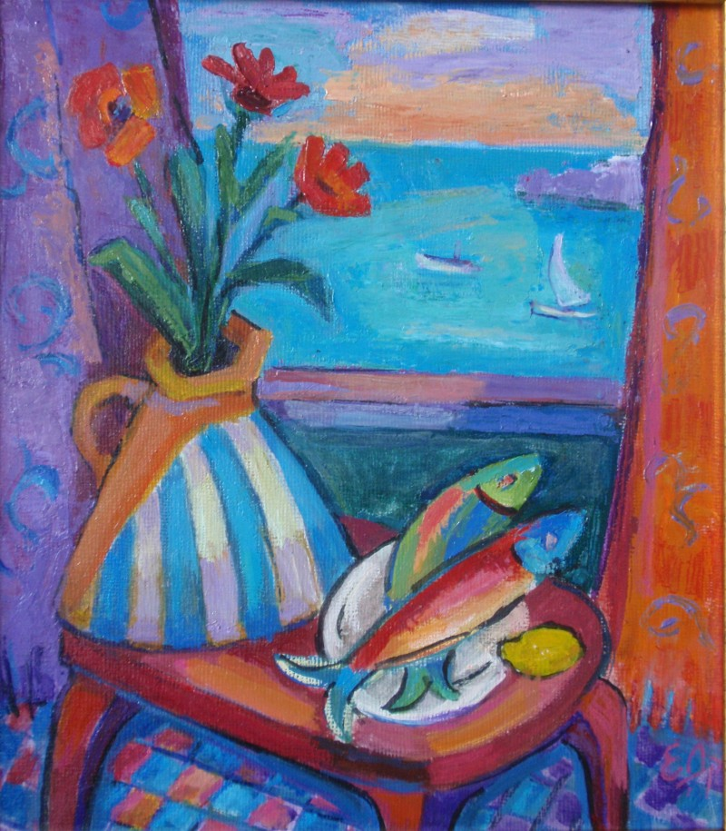 Still life with of fish